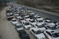 ترافیک سنگین جنوب به شمال محور هراز و فیروزکوه