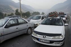 ترافیک سنگین در جاده چالوس و آزادراه قزوین-کرج