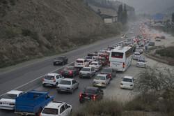 ترافیک پرحجم و نیمه سنگین در هراز و کندوان