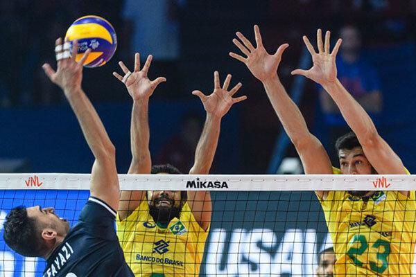 دیدار تیم های ملی والیبال ایران و برزیل