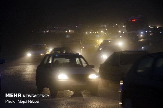 ترافیک پرحجم در ورودیهای تهران
