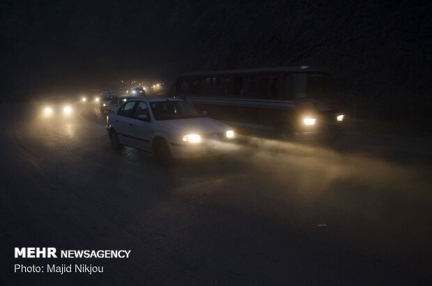 ترافیک پرحجم در هراز و فیروزکوه
