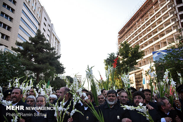 Flower decoration of Imam Reza shrine