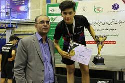 نخستین قهرمانی یک پینگ پنگ باز قمی در تور ایرانی تنیس روی میز