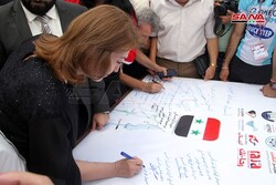 Syrians sign longest support letter for occupied Golan