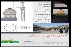 دمونتاژ قطعات گنبد جدید حرم امام حسین (ع) برای انتقال به کربلا