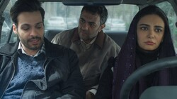 "A scene from Iranian filmmaker Marzieh Riahi's movie ""Driving Lessons""."