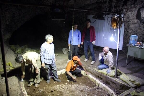 People visit Iran's Kaldar cave, where a fossilized skull attributed to Homo sapiens, was unearthed.
