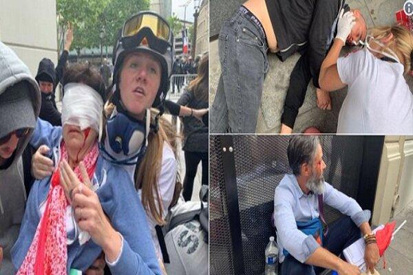 پلیس با مردم در پاریس درگیر شد/ ۱۴ نفر زخمی شدند
