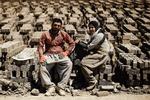 Hemedan'da mevsimlik tuğla işçileri