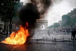 تظاهرات ضد دولتی در روز ملی فرانسه