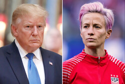 Megan Rapinoe and Donald Trump