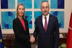Çavuşoğlu, Mogherini ile görüştü