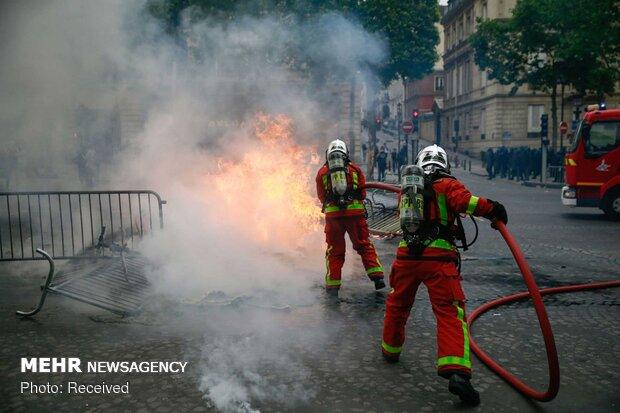 مظاهرات تجتاح باريس في يومها الوطني