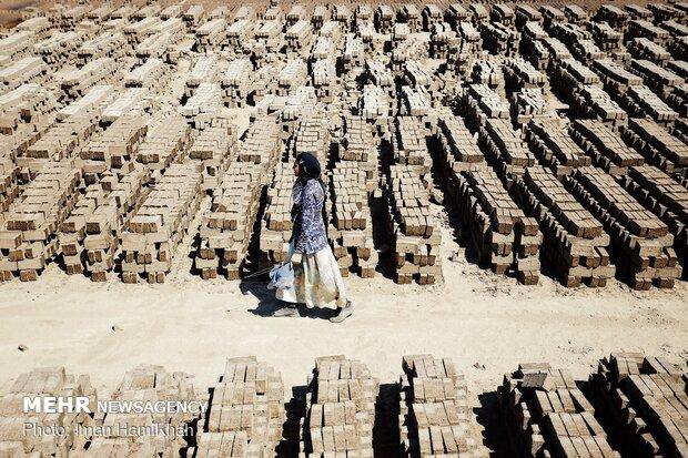 Hemedan'da mevsimlik işçiler