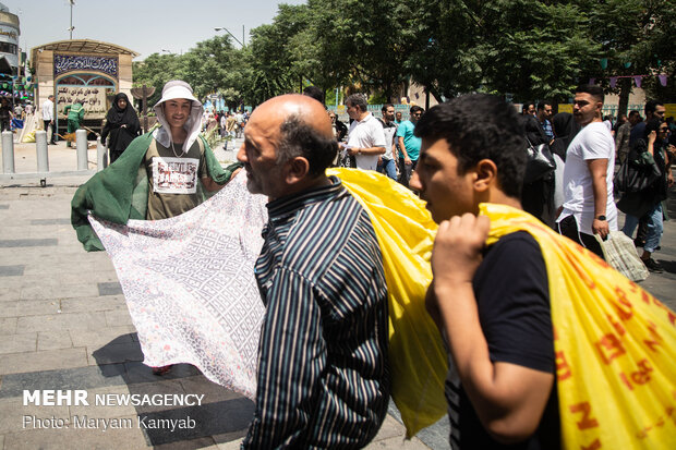 Tahran'da hava sıcaklığı