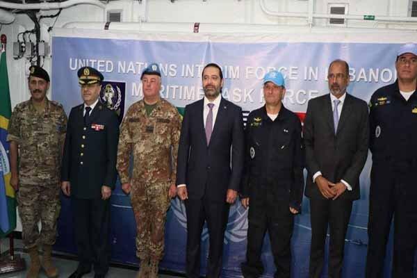 آنچه حریری در دیدار فرماندهی دریایی یونیفیل در لبنان گفت