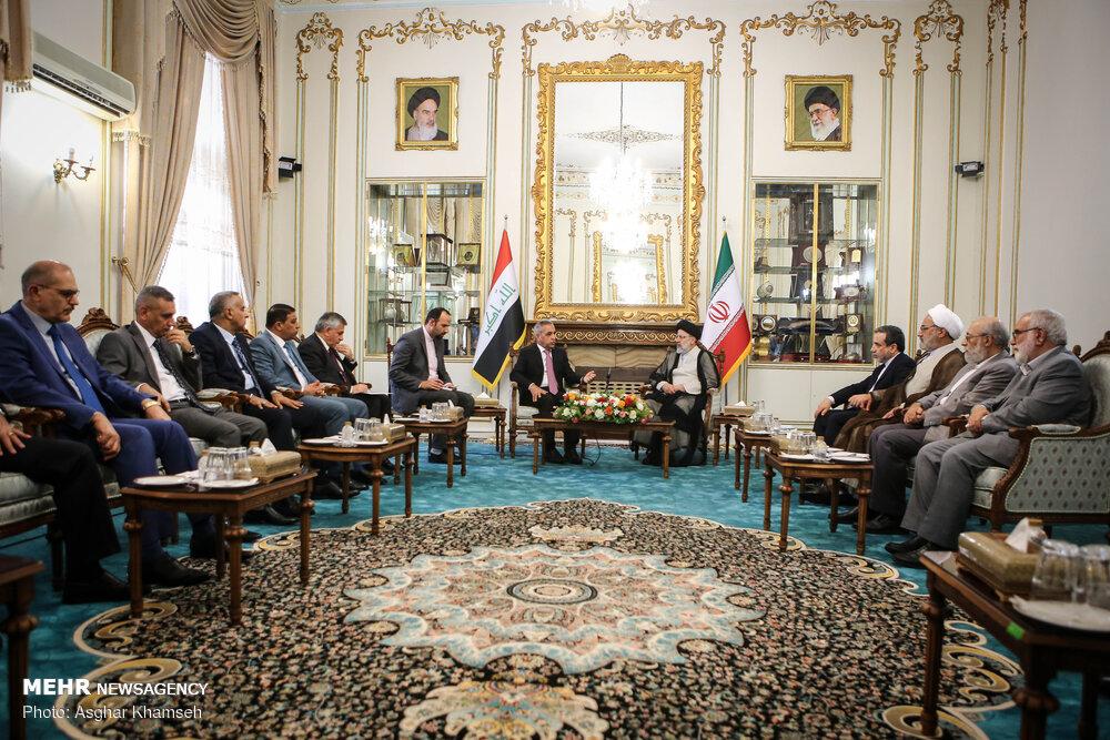 دیدار رئیس شواری عالی قضایی عراق با حجت الاسلام رئیسی