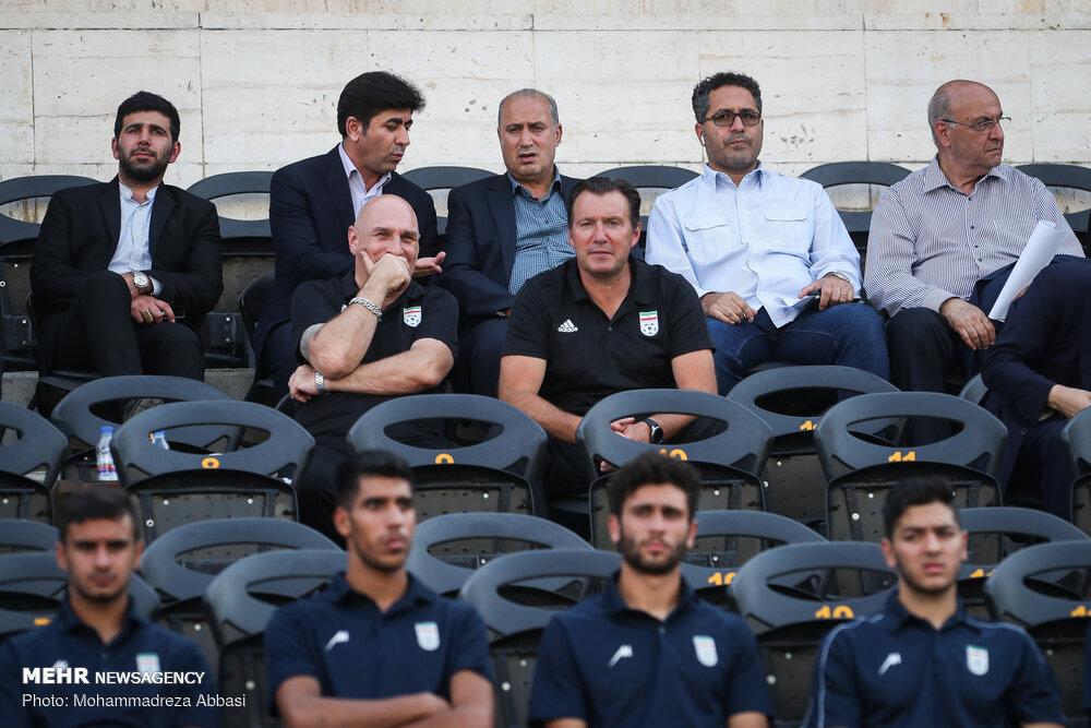 دیدار تدارکاتی بین تیم های ملی فوتبال امید و بزرگسالان ایران