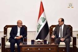 رایزنی نوری مالکی با سفیر ایران در عراق