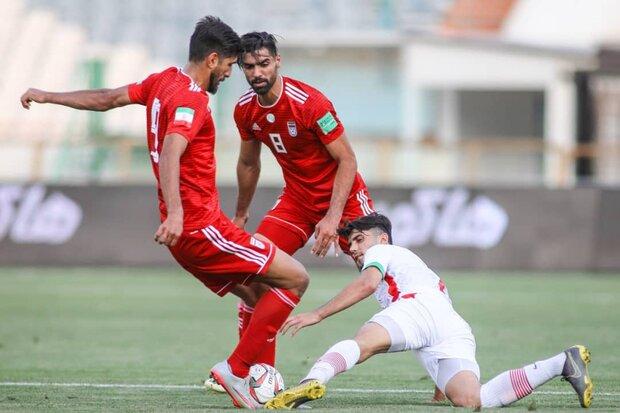 Iran B, U23 football teams share spoils