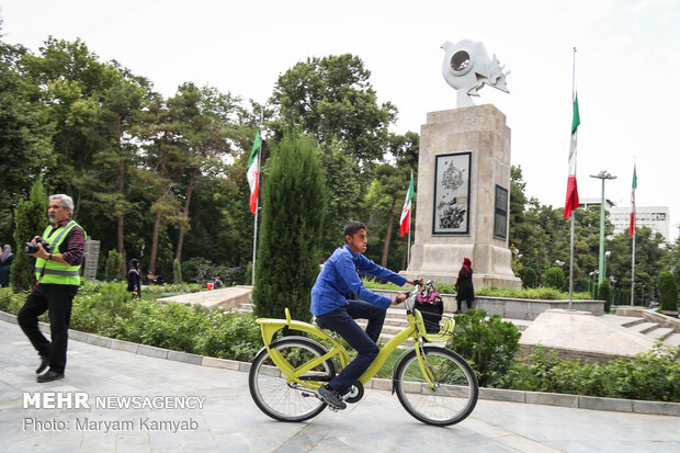 Para-cycling event in Tehran