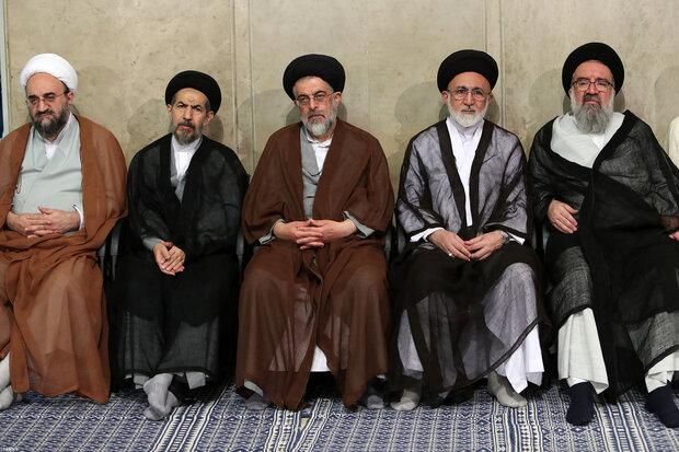 Friday prayers leaders meet Ayatollah Khamenei
