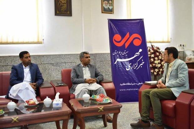 فرماندار مهرستان از دفتر خبرگزاری مهر سیستان وبلوچستان بازدید کرد