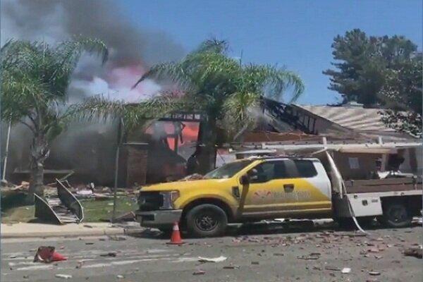 انفجار خط لوله گاز در کالیفرنیایجنوبی با یک کشته و ۱۵ زخمی