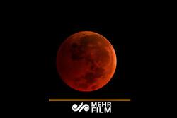 فیلمی از لحظه ماه گرفتگی در آسمان برلین