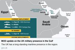 توضیح سفارت انگلیس درباره تغییر آرایش نظامی در خلیج فارس