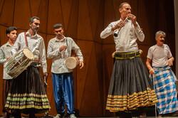 Folk musicians perform during 5th Ayenedar Regional and Ritual Music Festival at Tehran's Rudaki Hall on December 1, 2018. (Ayenedar Regional and Ritual Music Festival)