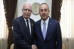 وزرای خارجه ترکیه و تشکیلات خودگردان فلسطین دیدار کردند