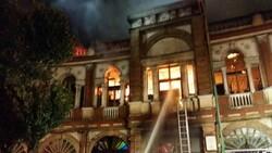 مهار آتشسوزی میدان حسنآباد/بخشی از بافت تاریخی حسنآباد سوخت