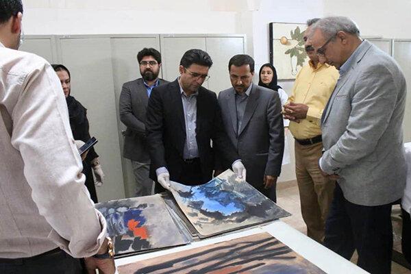 بازدید هادی مظفری از روند مرمت آثار موزه هنرهای معاصر صنعتی کرمان