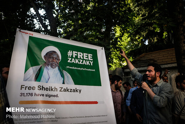 Rallies in front of Nigerian embassy in support of Sheikh Zakzaky
