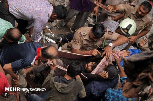 ریزش ساختمان در بمبئی