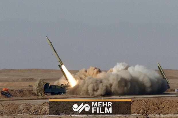 کلیپی از شلیک موشک فاتح ۱۱۰