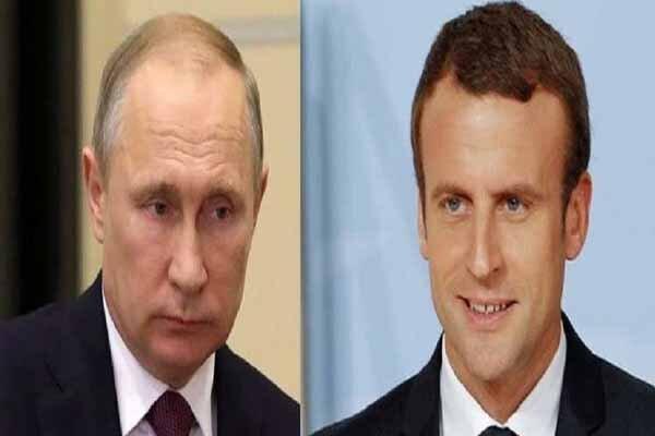 گفتگوی تلفنی ماکرون و پوتین درباره سوریه و ایران