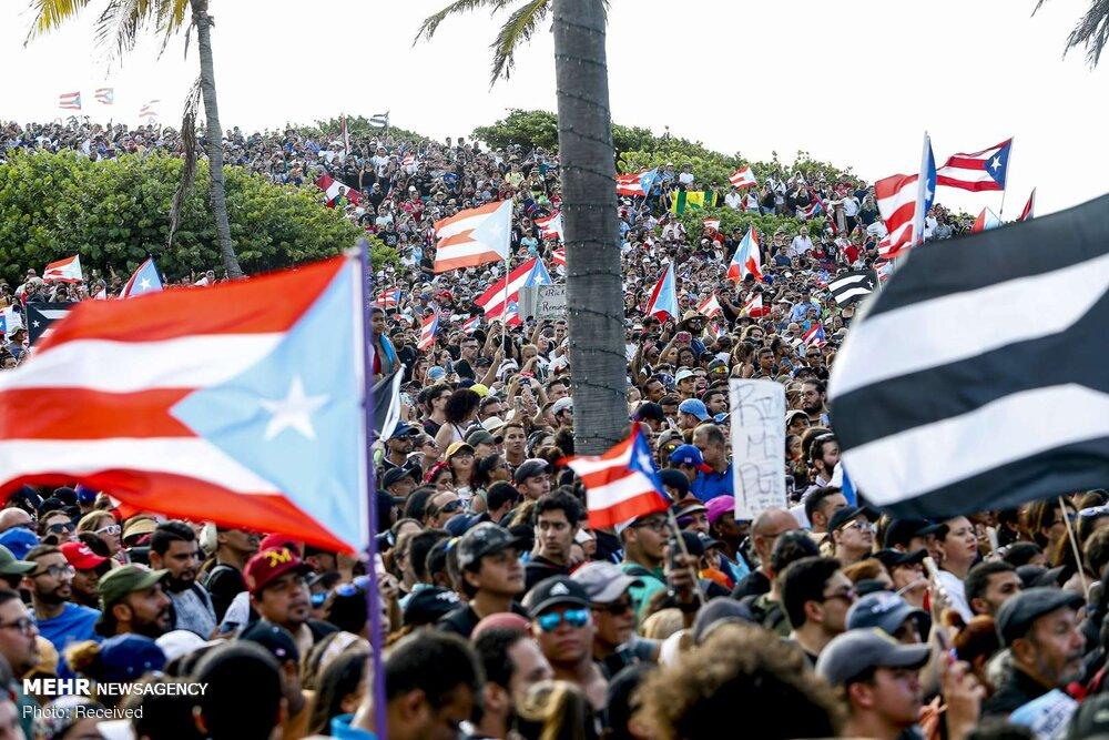 تظاهرات هزاران پورتو ریکویی علیه فساد فرماندار