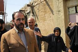 بازدید معاون پارلمانی رئیس جمهور از مناطق زلزله زده مسجدسلیمان
