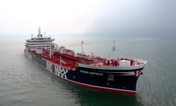 Stena Impero docks in Dubai after leaving Bandar Abbas