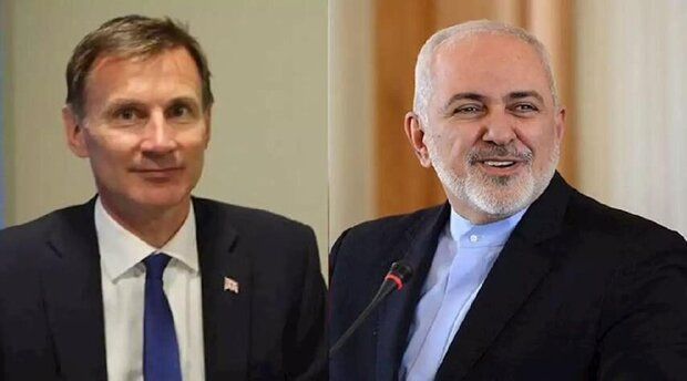 Iranian Foreign Minister Mohammad Javad Zarif  and British Foreign Secretary Jeremy Hunt