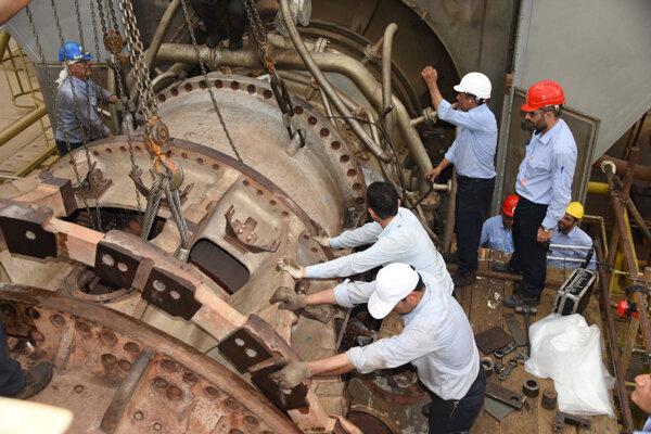 رکورد تعمیرات نیروگاهی در قزوین شکسته شد