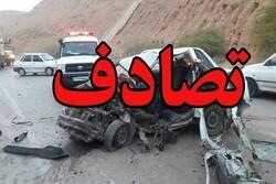 تصادف درزنجان ۲ کشته و ۱۱ مصدوم برجای گذاشت