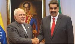 ظريف يجري مباحثات مع مادورو في القضايا ذات الاهتمام المشترك