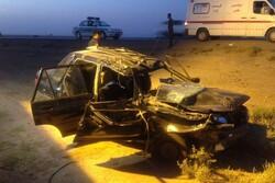 ۲ حادثه واژگونی در محورهای مواصلاتی استان سمنان/ ۶ نفر مصدوم شدند