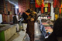 زاہدان کے بازار میں افغان مہاجرین کا کار و بار