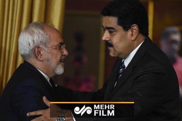 خوش و بش صمیمی «جواد ظریف» با «مادورو»