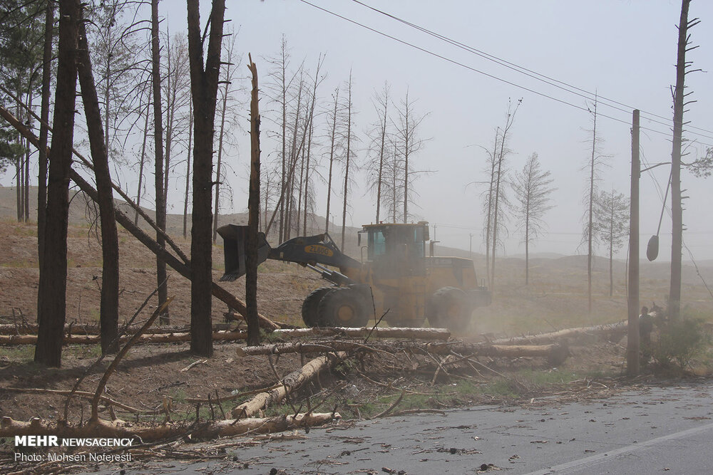 Storm of dusts incur serious damages in Birjand
